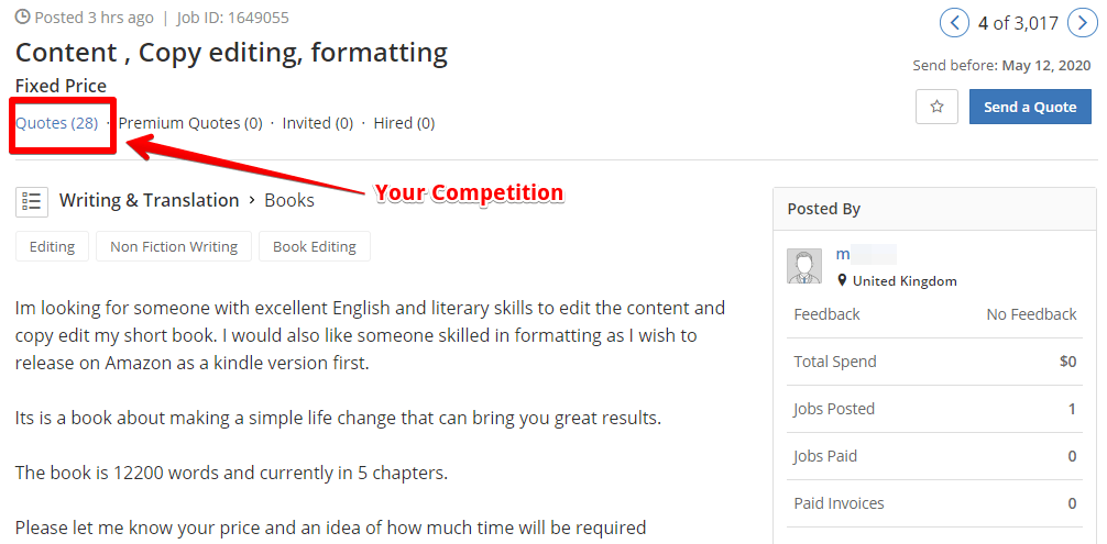 How does Guru.com work, your real competition