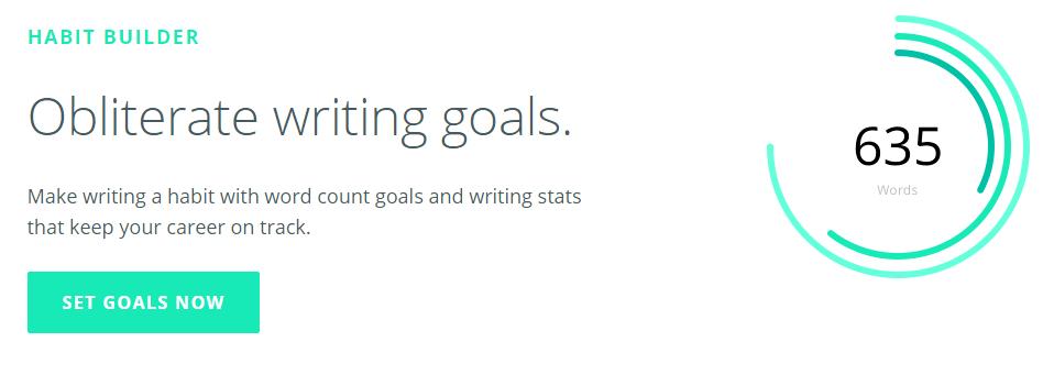 writers. work habit builder tool