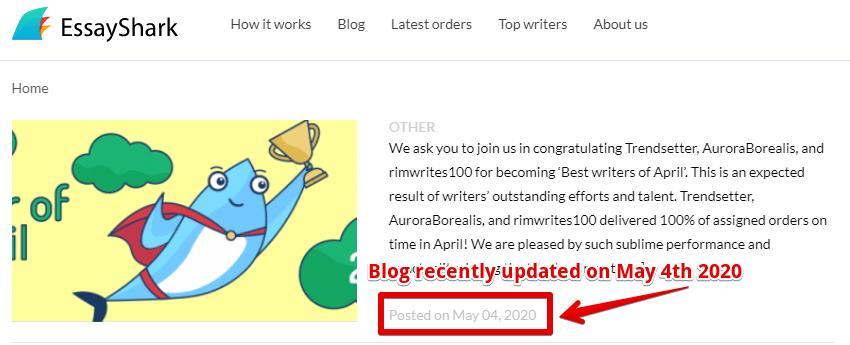 EssayShark.com regularly updates their blog