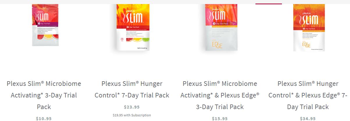 Plexus worldwide trial packs