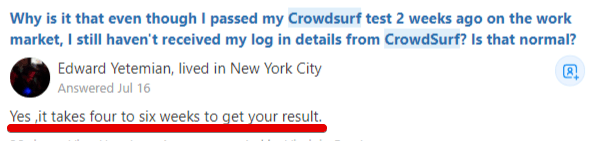 How long does it take to get your crowdsurf results