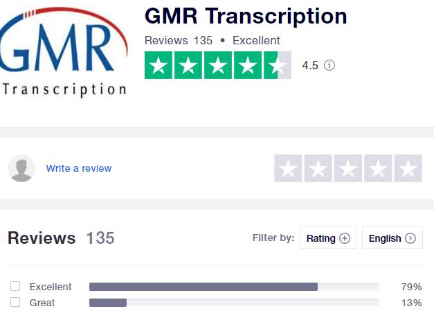 GMR transcription customer complaints