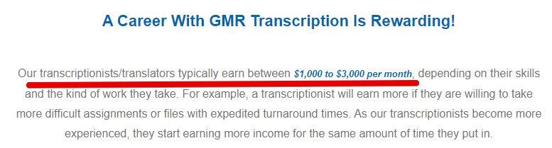 GMR transcription review how much can you earn with GMR transcription