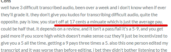 How much can earn with Casting Words