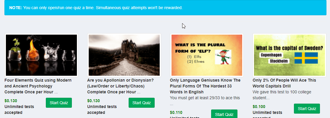 How Does the Paidera Quizzes work