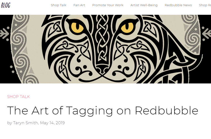 Redbubble review how to do tagging as a means to increase exposure to your redbubble designs