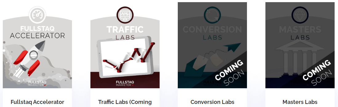 These are the available courses that you can buy from fullstaq marketer