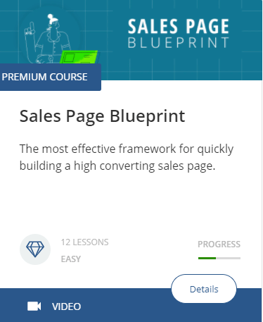 The thumbnail for the Sales Page Blueprint course