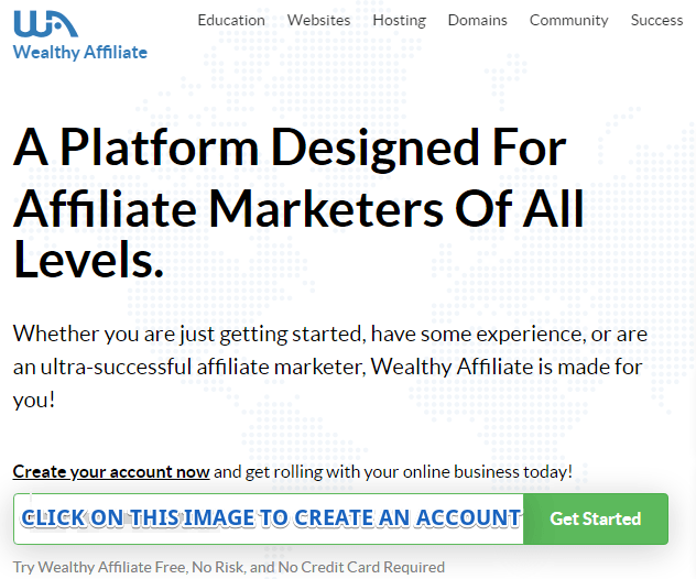 Wealthy Affiliate sales page