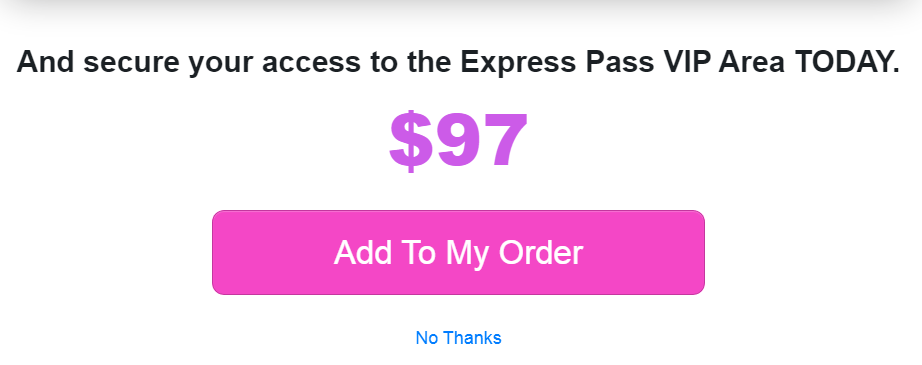 Writeappreviews has an upsell of $97