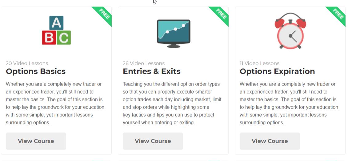 the option alpha video courses
